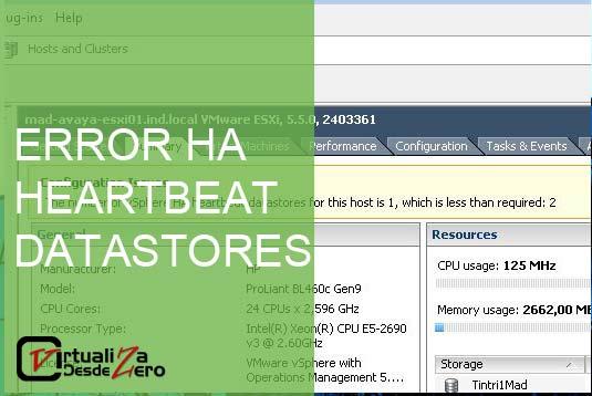 HEARTBEAT DATASTORES CABECERA