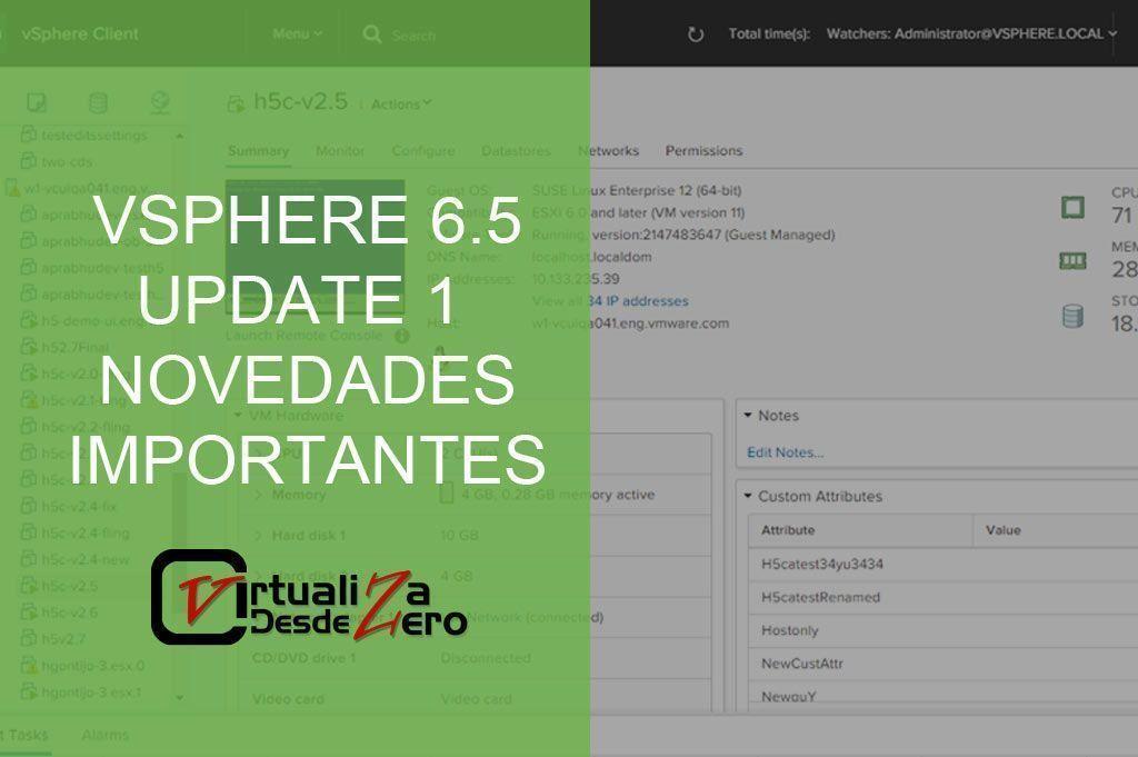 VSPHERE 6.5 UPDATE 1