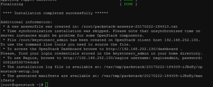 cambiar ip openstack packstack