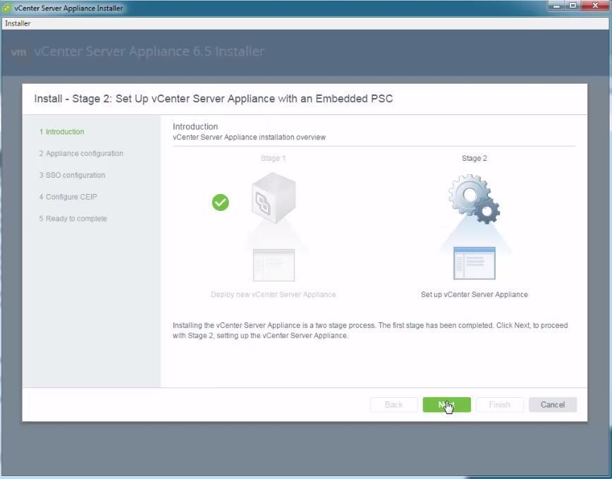 INSTALAR VCENTER SERVER APPLIANCE 6.5 (VCSA 6.5)