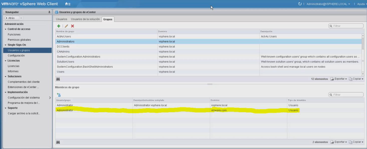 Configurar Directorio Activo en vCenter 6.5 [VMware vSphere]
