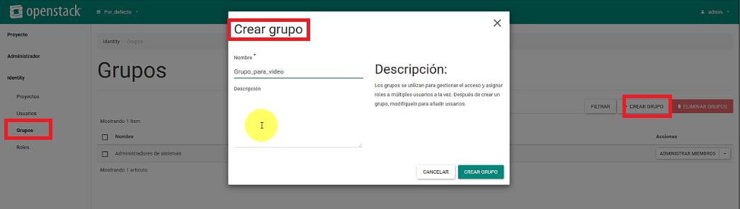 gestionar permisos de usuarios y grupos en openstack10